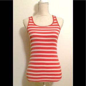 Gap Sexy-Stretch-Striped-Salmon Tank Top in Small